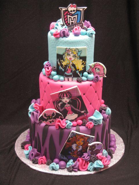 Terrific 8 Superior Monster High Cakes Photo Monster High Birthday Cake Funny Birthday Cards Online Fluifree Goldxyz