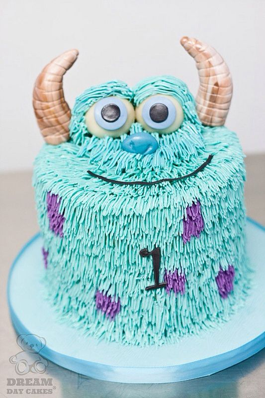 7 Easy Monster Inc Cakes Photo Monsters Inc Sully Birthday Cake