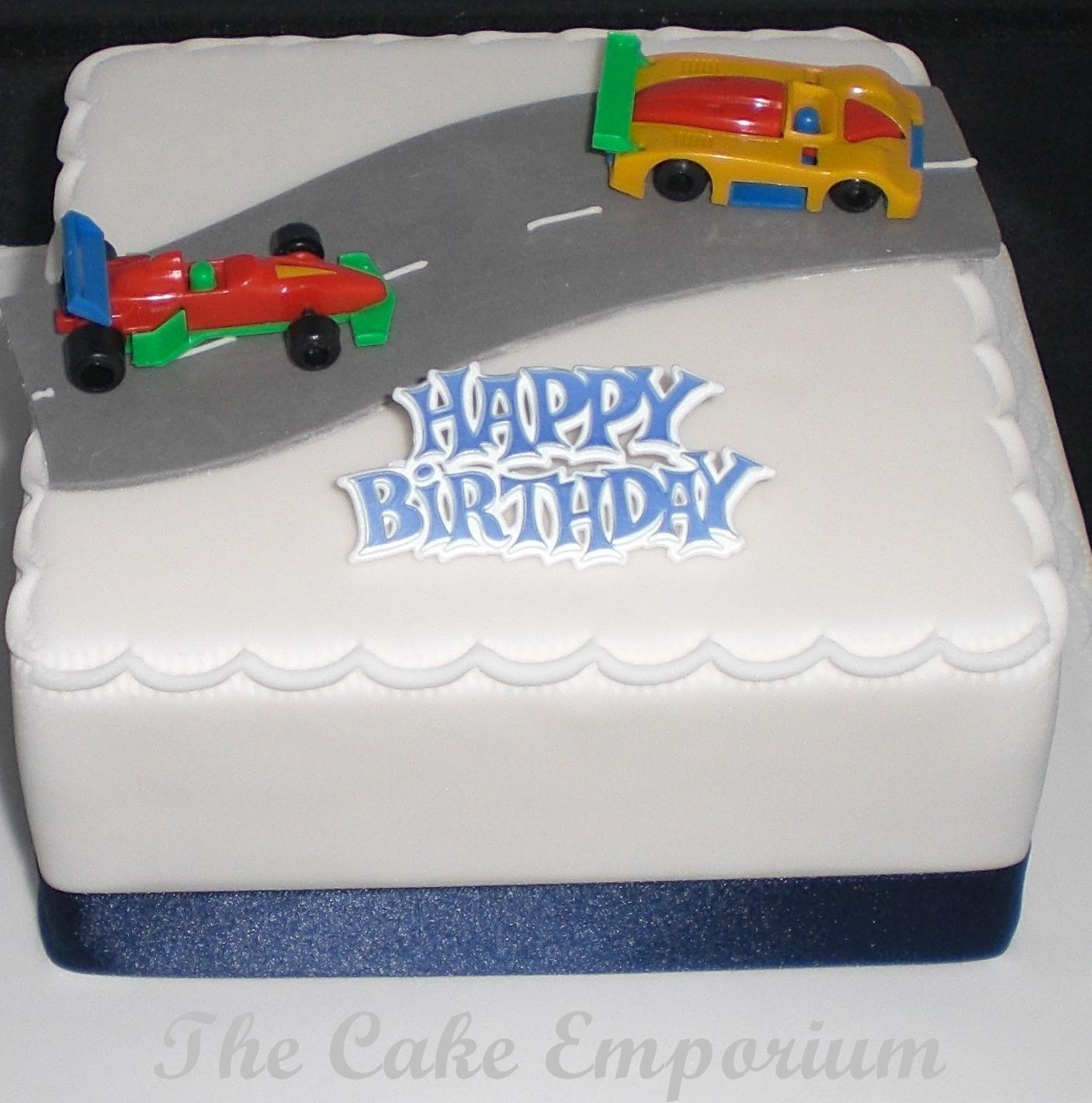 8 Cakes For Boys Racer Photo Race Car Track Birthday Cake Race