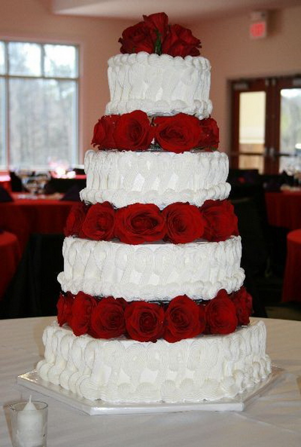 8 red white and silver buttercream wedding cakes images photo red and white wedding cake junglespirit Choice Image