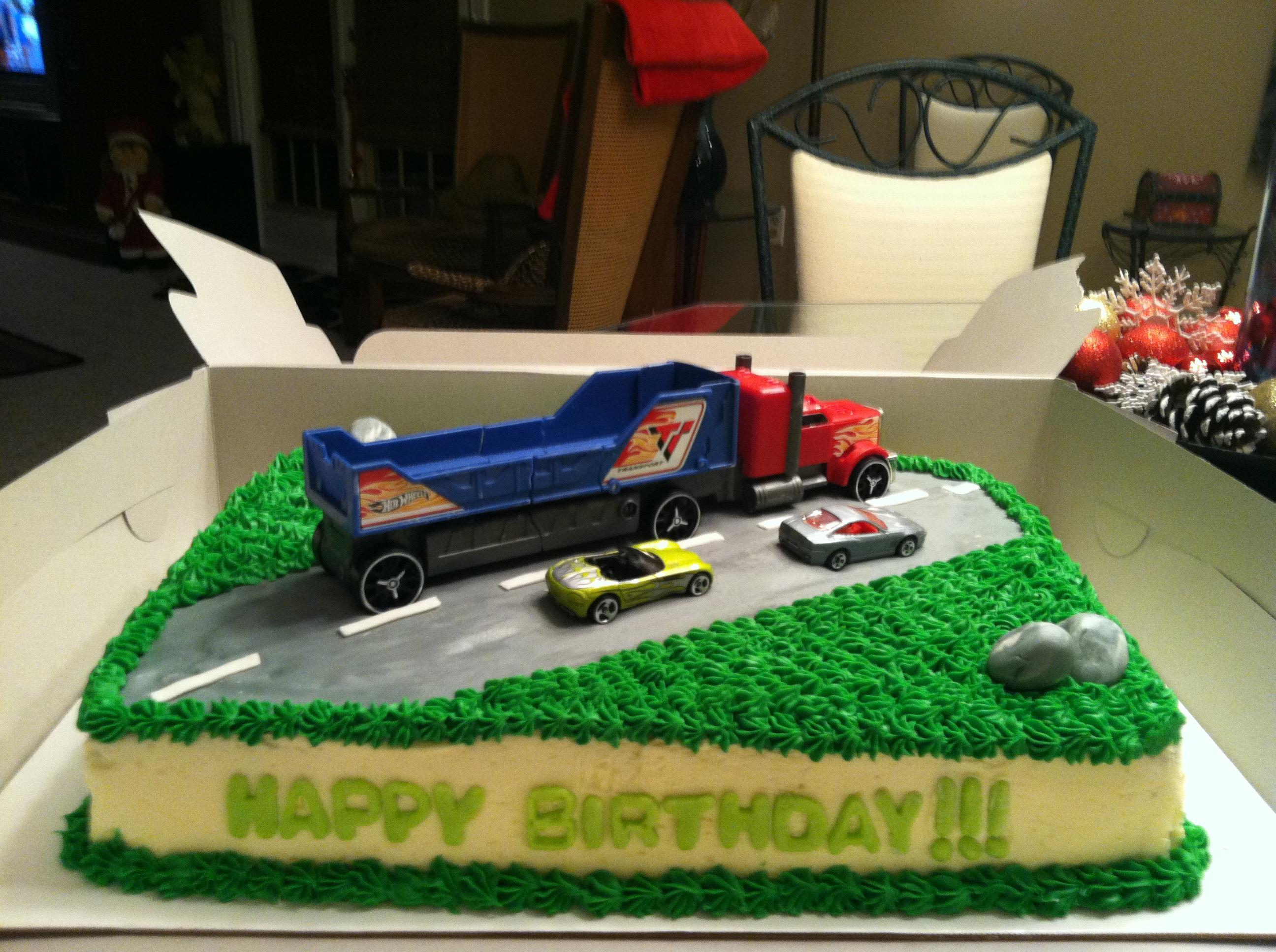 Super 11 Semi Truck Birthday Cakes Photo Semi Truck Cake Semi Truck Birthday Cards Printable Opercafe Filternl