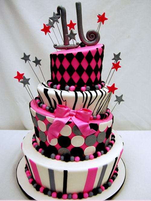 11 Modern Birthday Cakes For Women Photo Modern Birthday Cake