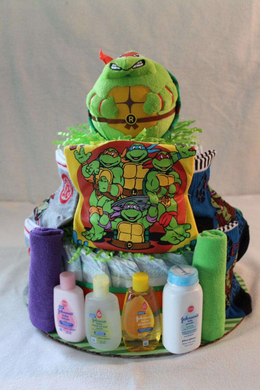 Teenage Mutant Ninja Turtle Tiered Cake