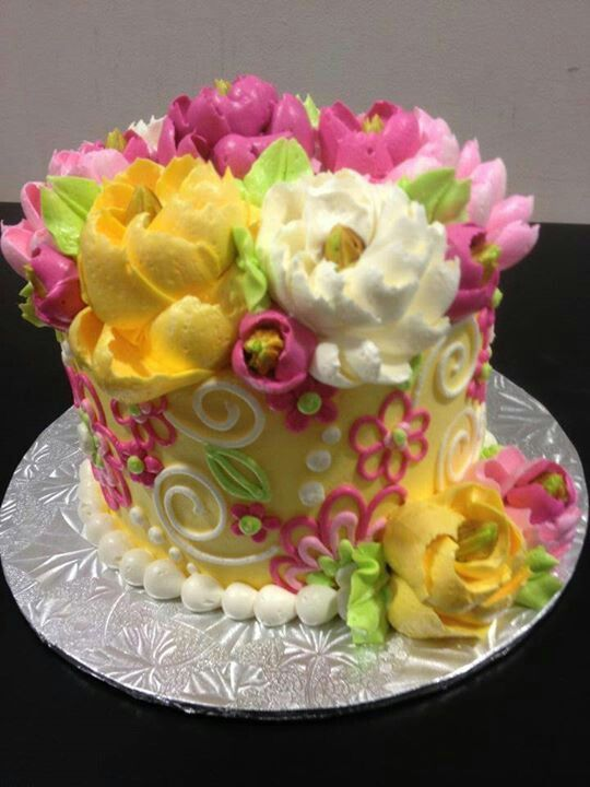 Exelent the white flower cake shop picture collection best evening 10 white buttercream flower cake shoppe cakes photo buttercream mightylinksfo