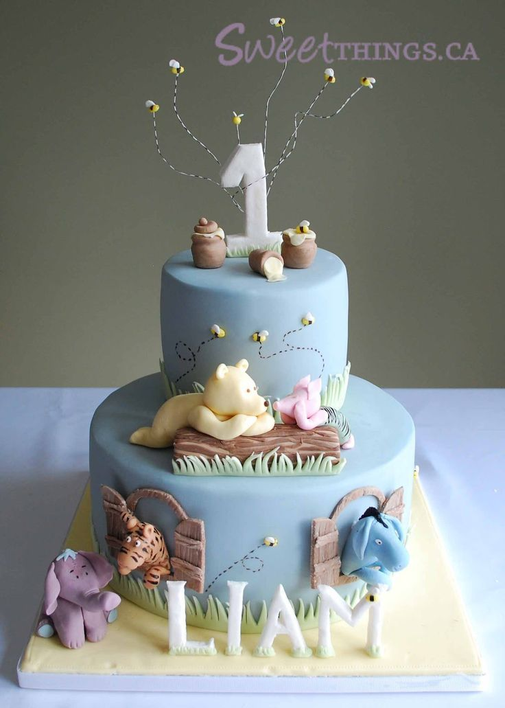 12 Elie Birthday Cakes For Boys 1st Year Photo First Birthday Cake