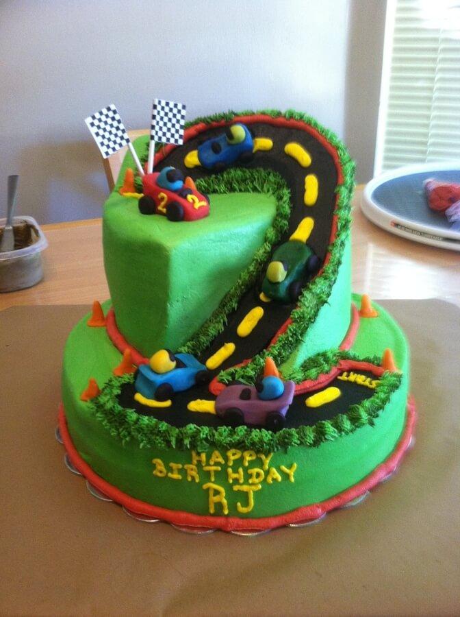 2 Year Old Boy Birthday Cake