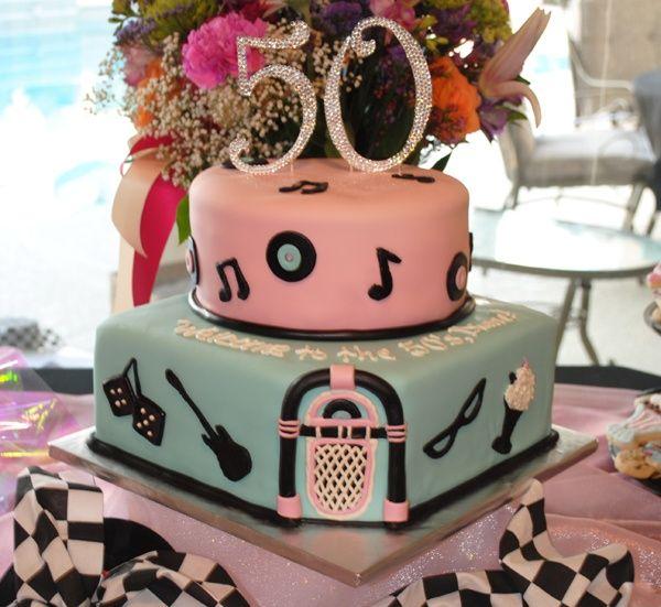 50s Theme Birthday Cake Ideas
