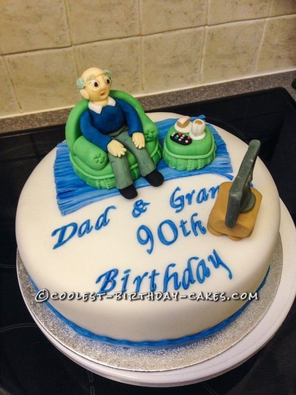 90th Birthday Dad Cake Ideas