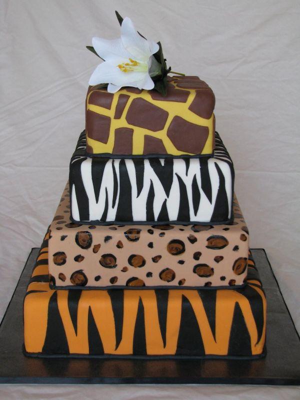 9 Giraffe Print Cakes And Baby Tiger Boy Print Photo Tiger and