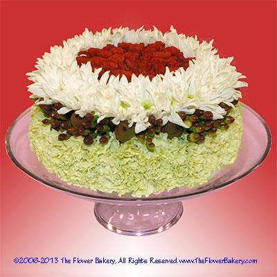 Phenomenal 11 Flower Arrangments For Cakes Photo Arrangement Fresh Flower Personalised Birthday Cards Beptaeletsinfo