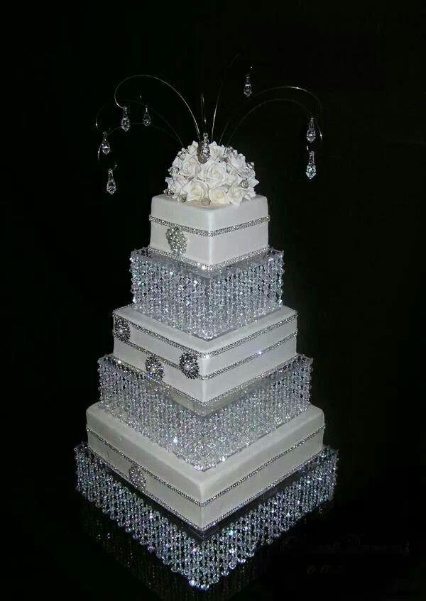 12 Blinged Out Wedding Cakes Photo Blinged Out Wedding Cake Bling
