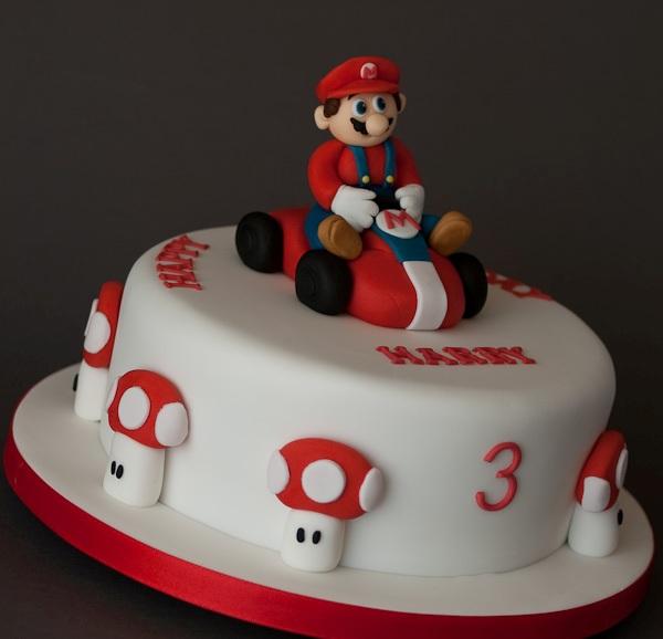 7 Mario Cakes For Boys Photo Kids Birthday Cakes Mario Kart