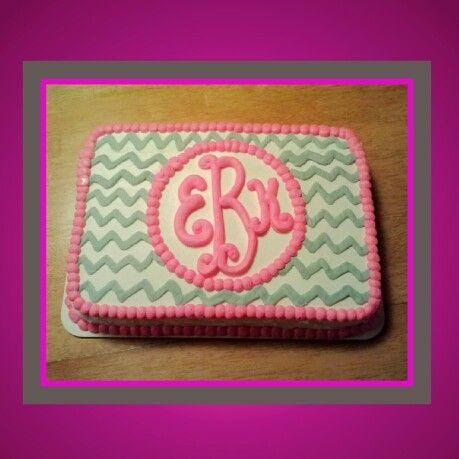 Phenomenal 8 Initial Birthday Cakes Photo Chevron Birthday Sheet Cake Funny Birthday Cards Online Alyptdamsfinfo