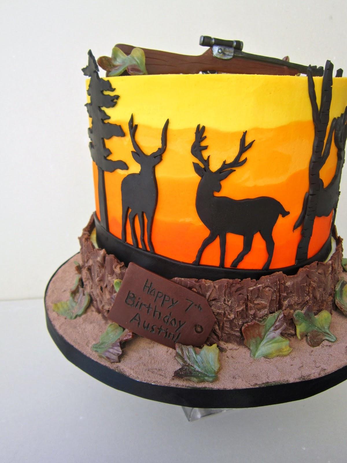 Deer Hunting Happy Birthday Cake