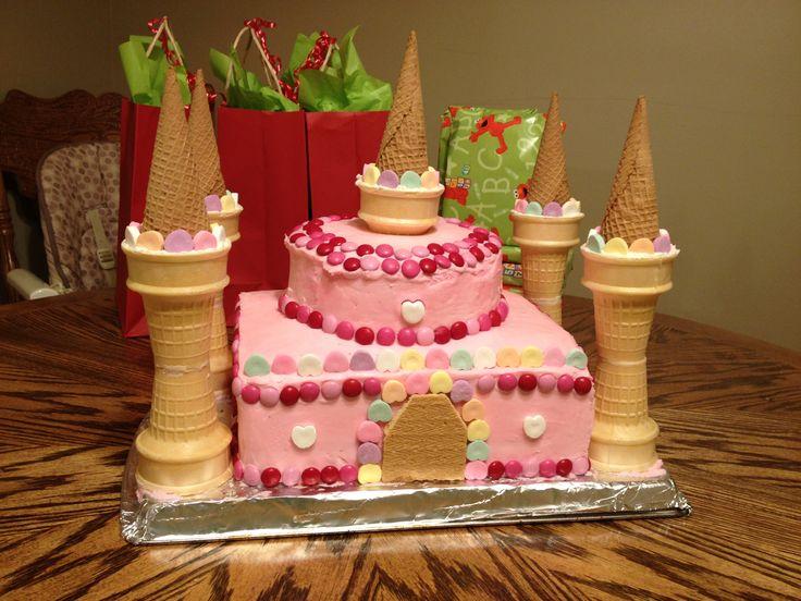 Easy Princess Castle Cake