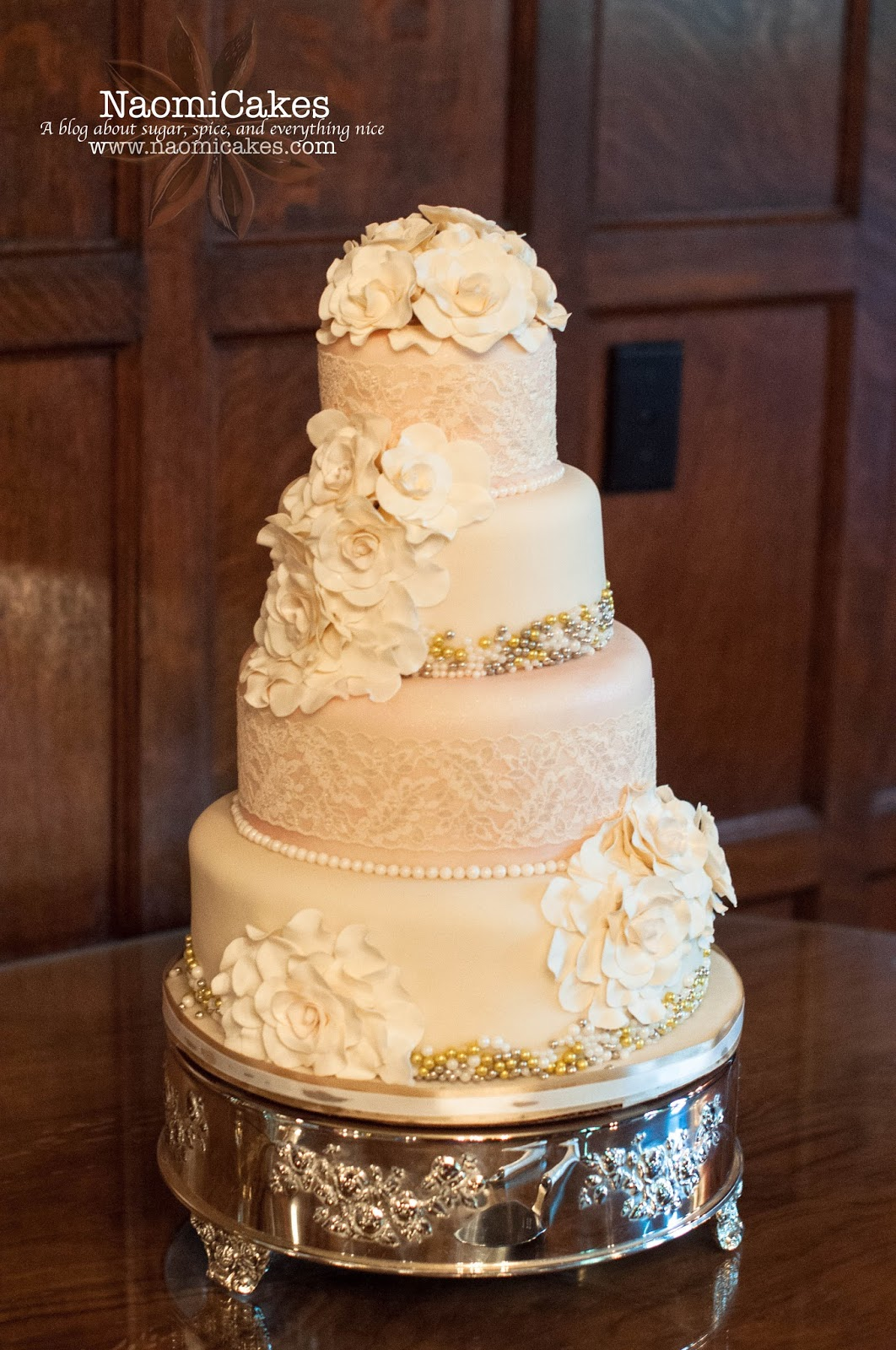 8 Wedding Cakes With Edible Beads Photo - Wedding Cake with Bling ...