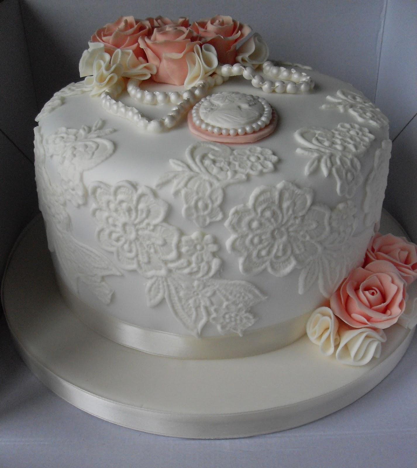 Outstanding 9 Vintage Lace Birthday Cakes Photo Elegant Lace Birthday Cake Funny Birthday Cards Online Alyptdamsfinfo