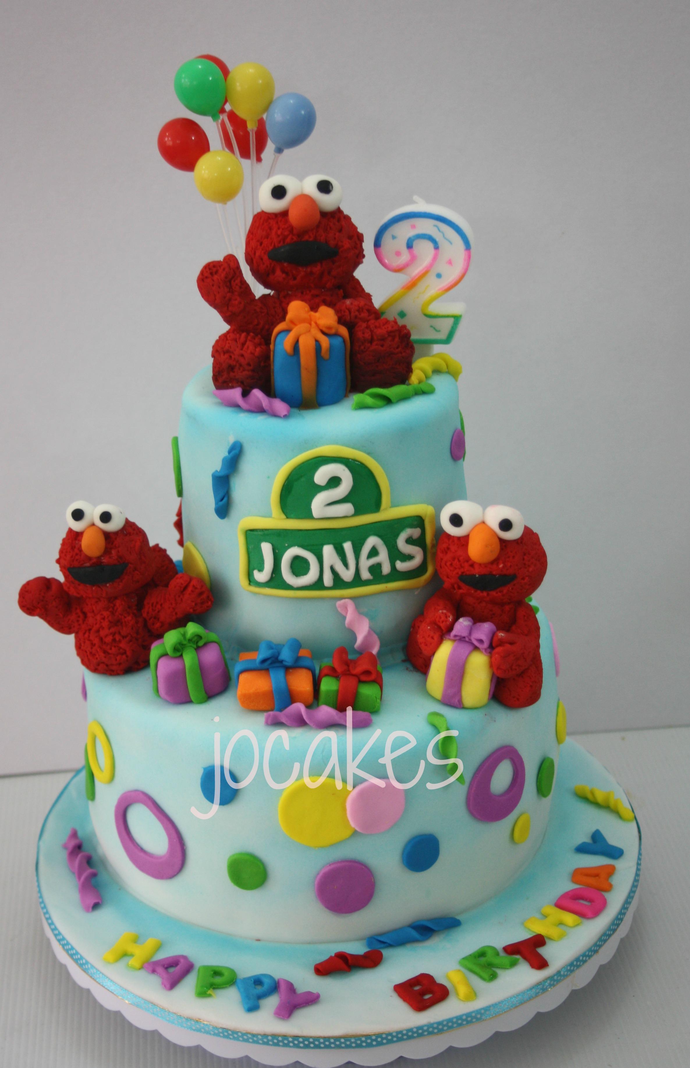 9 Elmo Cakes For Three Year Old Boys Photo Elmo Birthday Cake 2