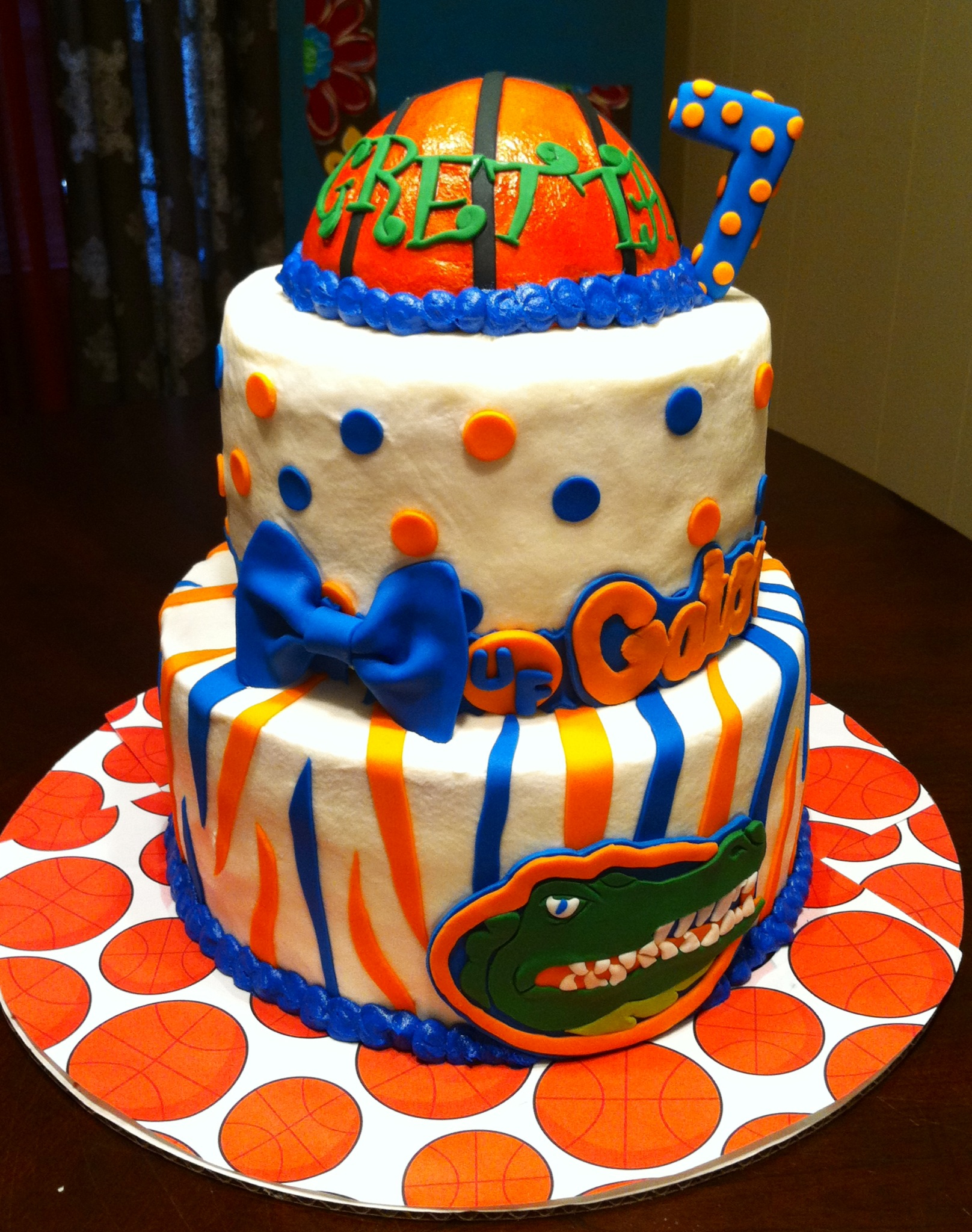 Stupendous 10 Uf Birthday Cakes Photo Florida Gators Birthday Cake Florida Personalised Birthday Cards Veneteletsinfo