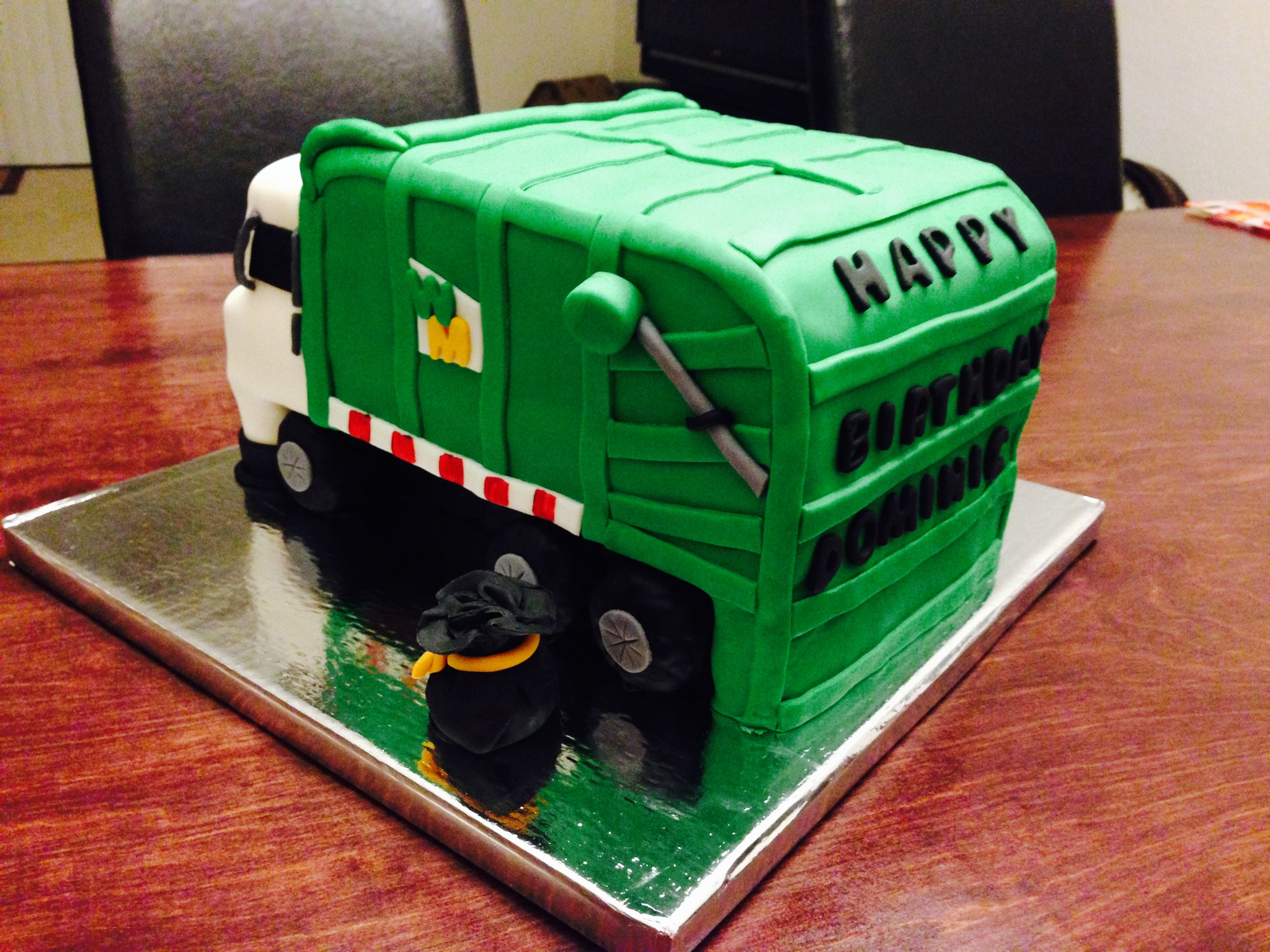 Wondrous 12 Roll Off Trash Truck Cakes Photo Garbage Truck Cake Garbage Personalised Birthday Cards Veneteletsinfo