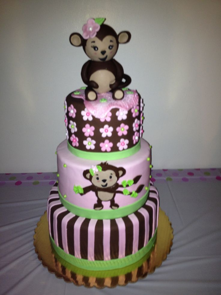 Monkey Baby Shower Cakes Image Cabinets And Shower Mandra Taverncom