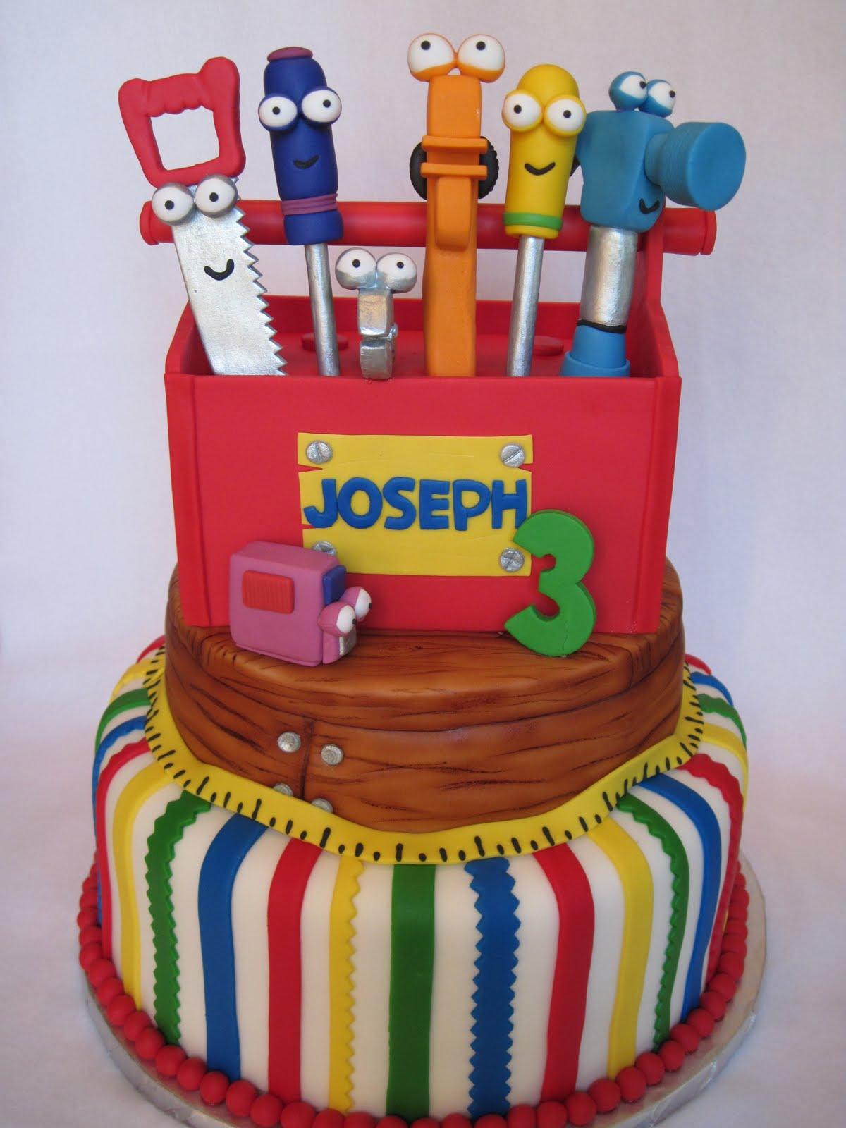 Awe Inspiring 8 Tool Cakes For Boys Photo Handy Manny Tool Box Cake Boy Birthday Cards Printable Inklcafe Filternl