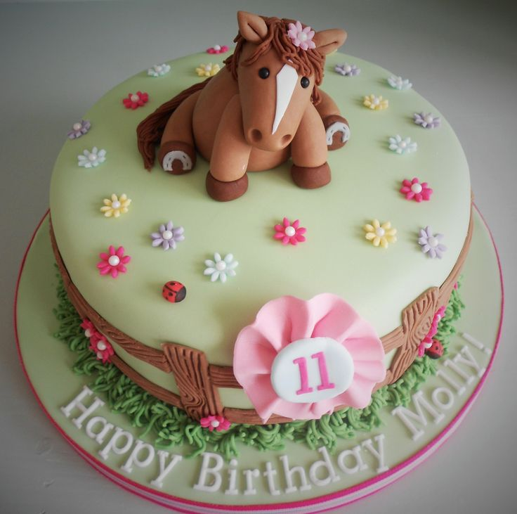 11 Horse Cakes For Girls Photo Horse Birthday Cake Little Girl