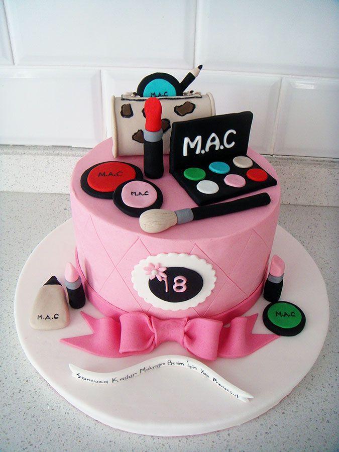 8 Teen Makeup Cakes Photo Pink Make Up Cake Girls Birthday Cake