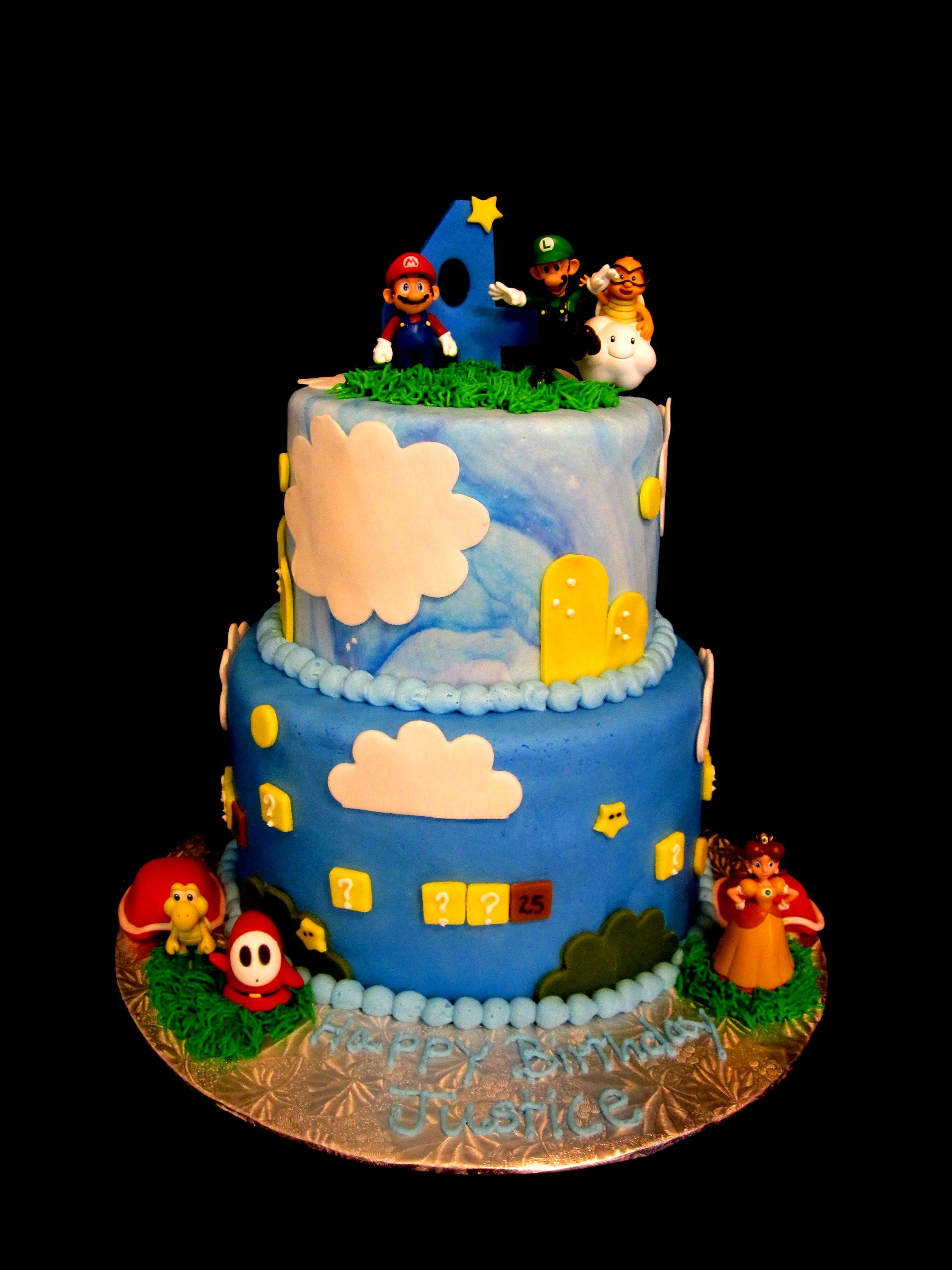 Boys Mario Birthday Cake Via Brother