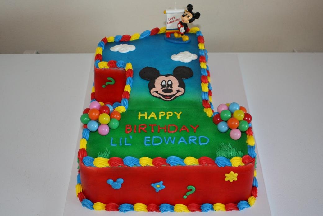 Pleasing 11 Publix Birthday Cakes 1 Mickey On Photo Mickey Mouse 1St Personalised Birthday Cards Akebfashionlily Jamesorg