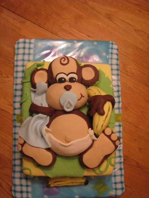 9 Monkey Theme Baby Shower Sheet Cakes Photo Girl Monkey Theme
