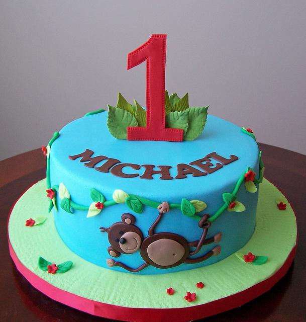 Admirable 11 Monkey Theme Cakes Photo Monkey Baby Shower Cake Monkey Personalised Birthday Cards Petedlily Jamesorg