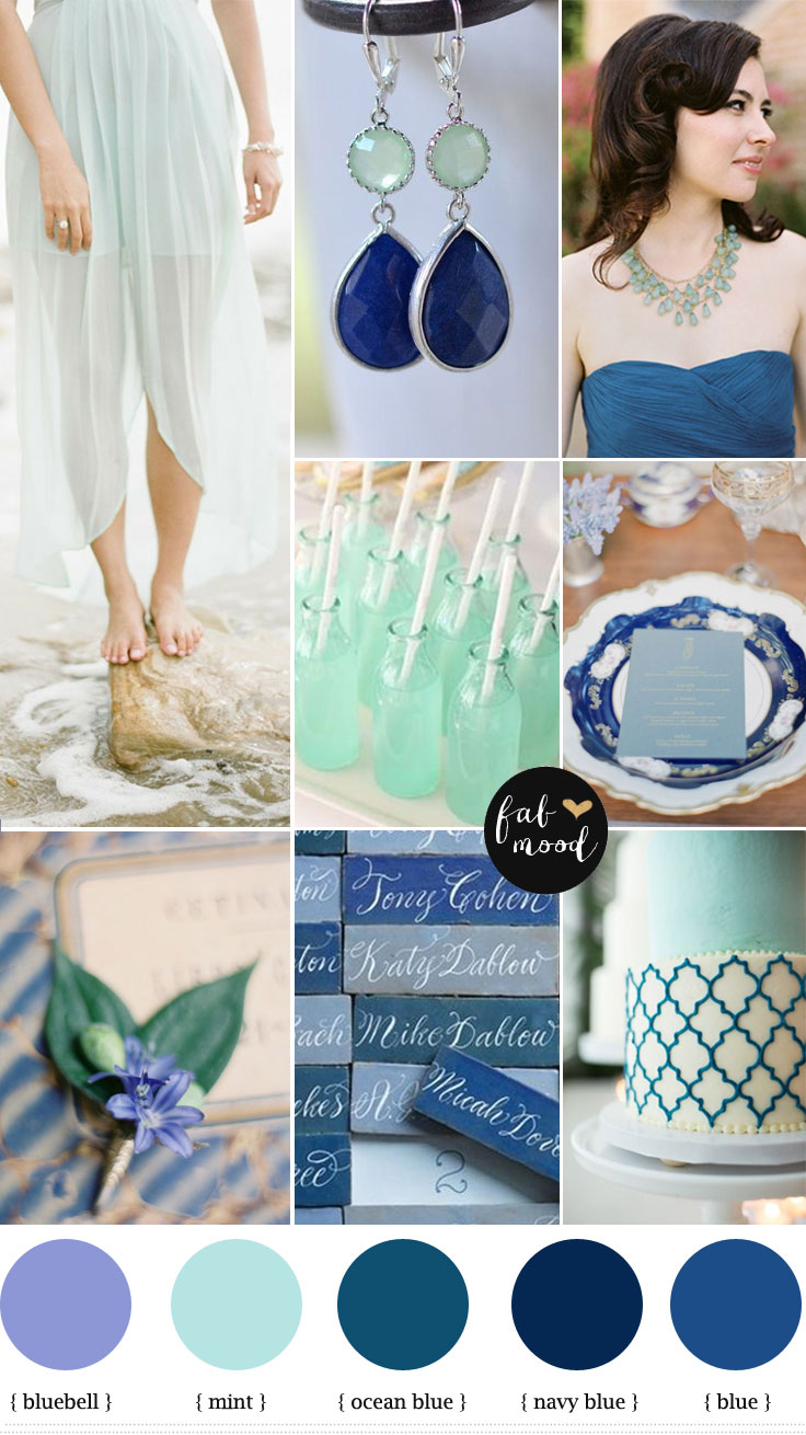 Navy Blue And Mint Green Wedding Colors