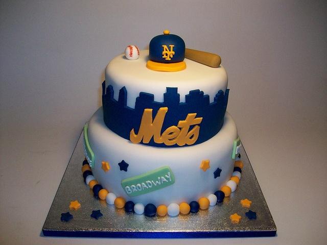 New York Mets Baseball Cake