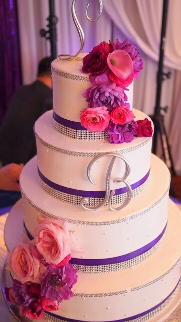 8 Pink Blue Purple Wedding Cakes Photo - Red Pink and Purple Wedding ...