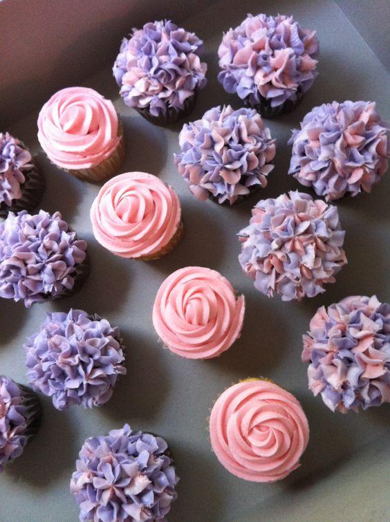 Purple Baby Shower Cupcake Ideas