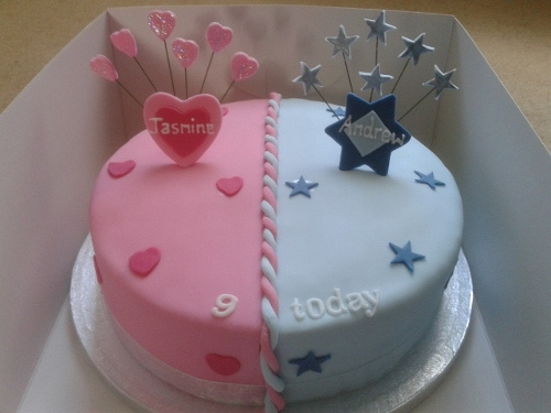 Groovy 6 Birthday Cakes Boy And Girl Combo Photo Rainbow Birthday Boy Birthday Cards Printable Trancafe Filternl