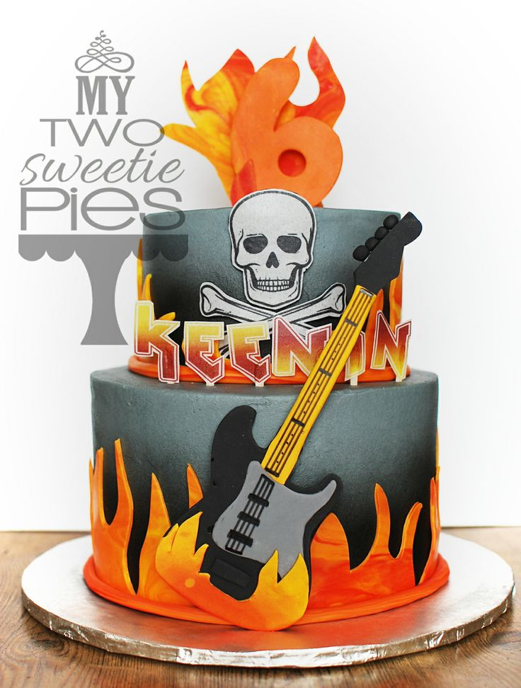 Superb 8 Rock And Roll Birthday Cakes For Men Photo Rockn Roll Funny Birthday Cards Online Overcheapnameinfo