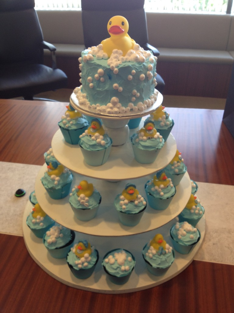 Rubber Duck Baby Shower Cake Cupcakes