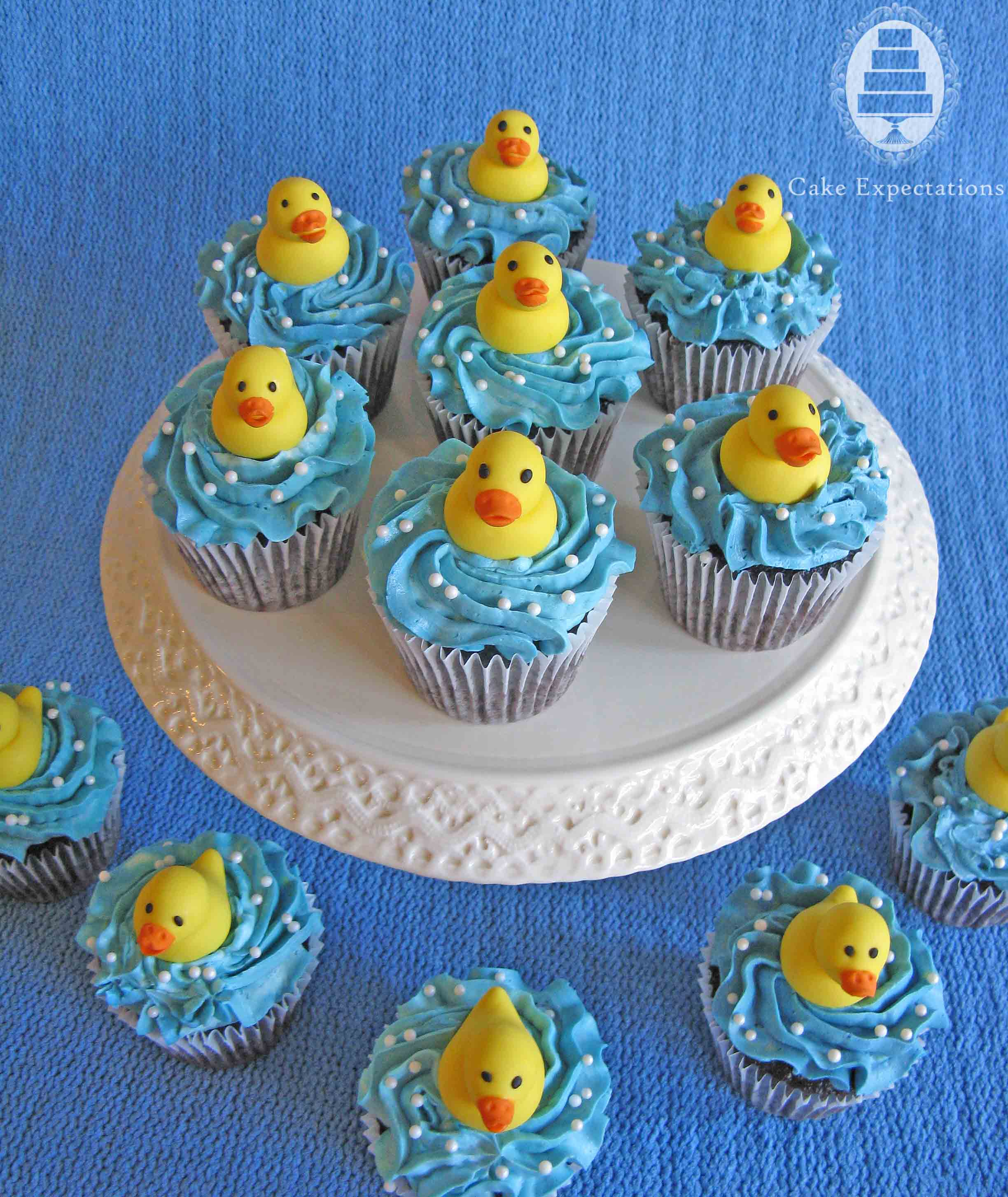 Rubber Ducky Baby Shower Cupcakes