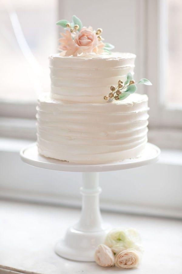 7 Two Tier Cakes Pinterest Photo Simple 2 Tier Buttercream Wedding