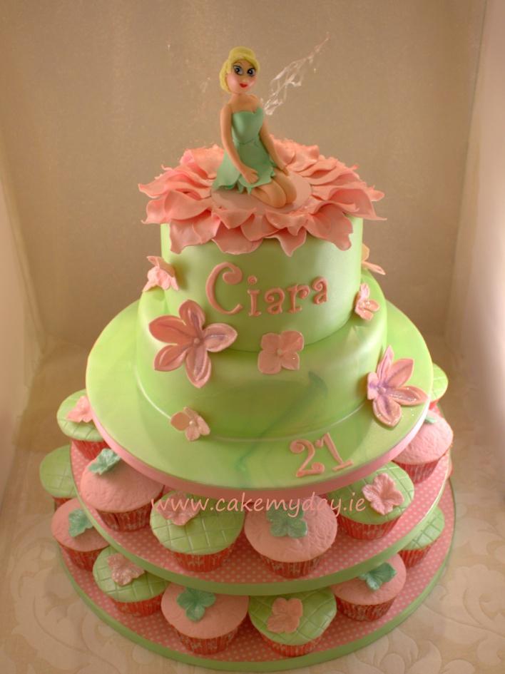 7 Tinkerbell Fairy Birthday Cakes Photo Tinkerbell Birthday Cake