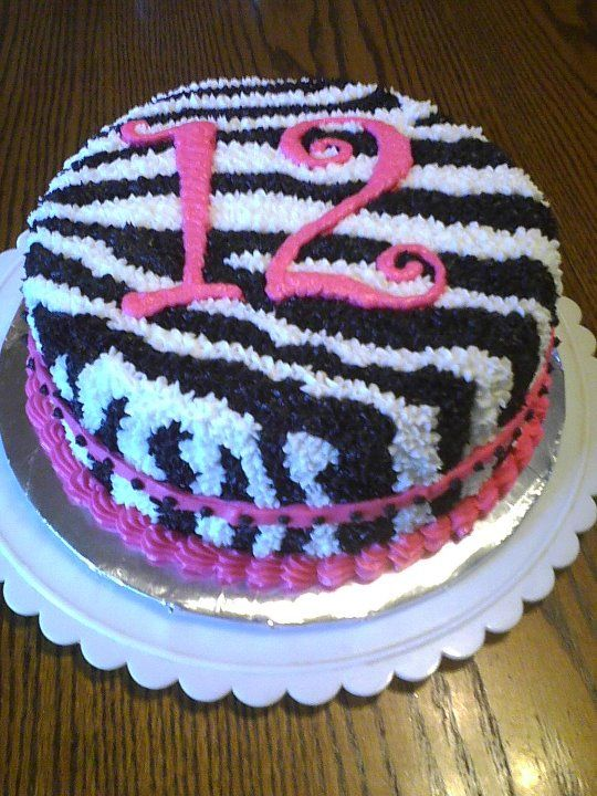 10 Zebra Birthday Cakes Price Chopper Photo Zebra Cake Pink Zebra