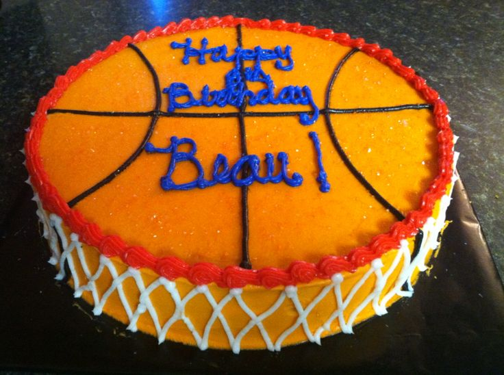 Awe Inspiring 11 Coach Basketball Cakes Photo Basketball Birthday Cake Funny Birthday Cards Online Benoljebrpdamsfinfo
