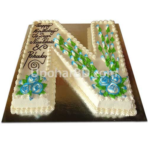 birthday cake alphabet letters
