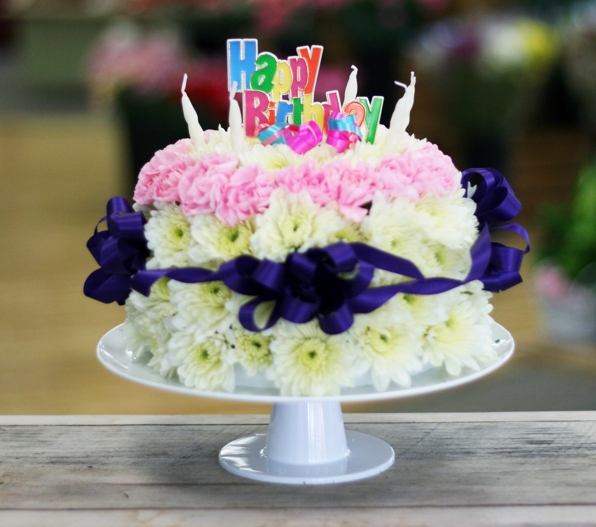 12 Birthday Cakes Like Flowers Photo Flower Birthday Cake