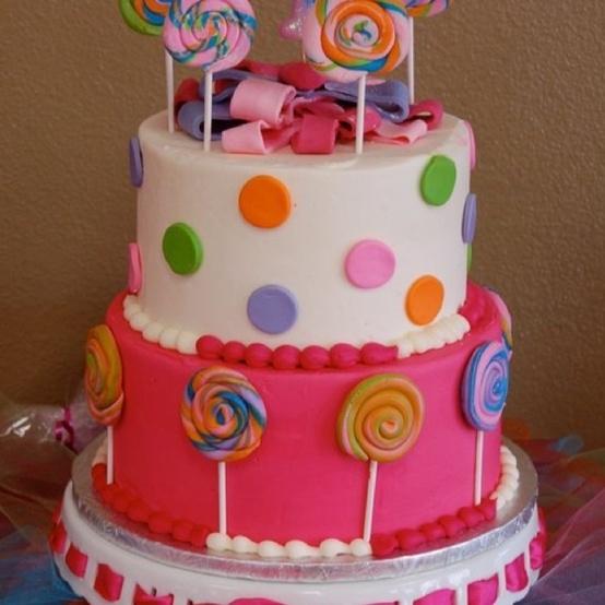 Happy Birthday Little Girl Via Cake
