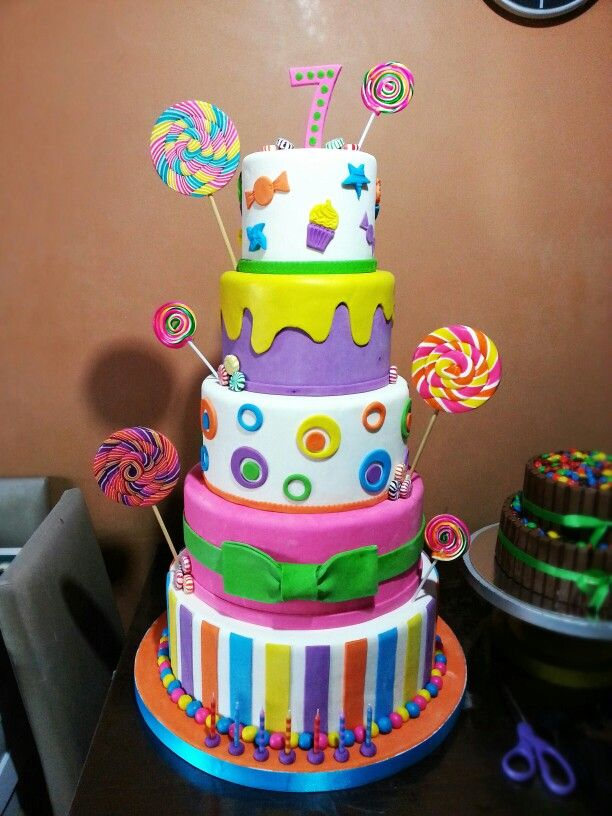 7 Candy Land Themed Birthday Cakes Photo