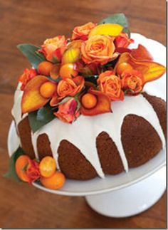 Decorating A Bundt Cake With Ribbon Candy