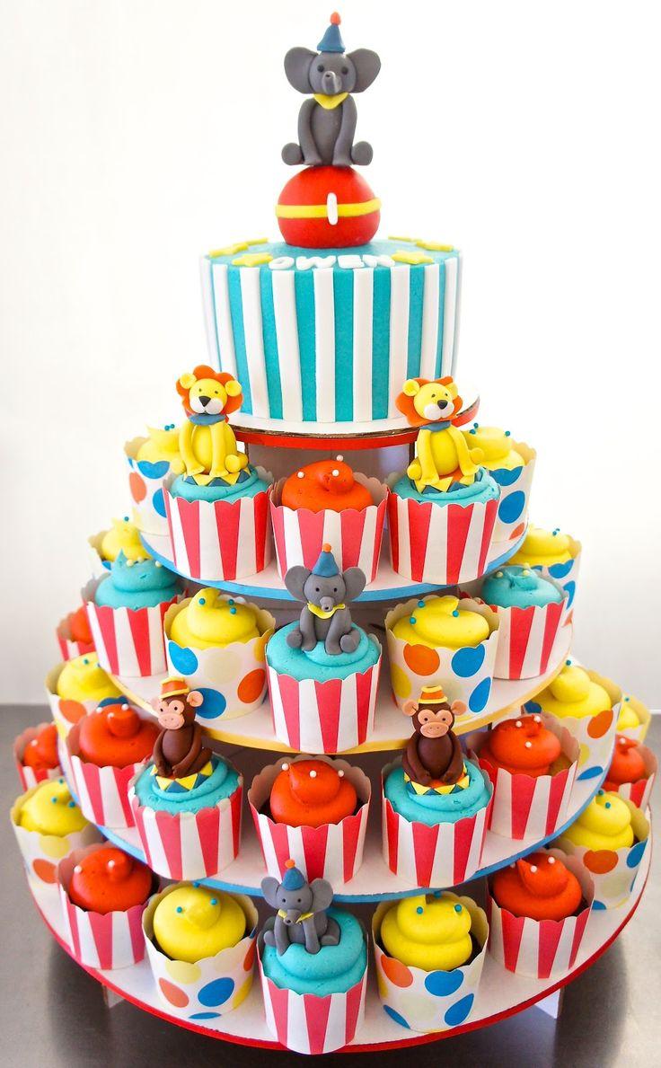 10 Circus Cake Cupcakes Photo Circus Tent Cupcake Cakes Circus